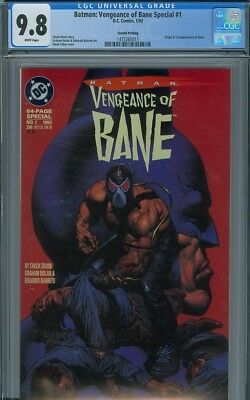 Batman: Vengeance of Bane Special #1 CGC 9.8 White pages Second Printing