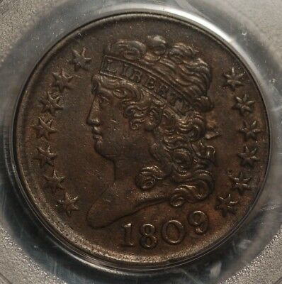 180/6 Classic Head Half Cent  graded by PCGS XF 45