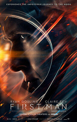"FIRST MAN 2018 Advance Teaser DS 2 Sided 27x40"" US Movie Poster Ryan Gosling Foy"