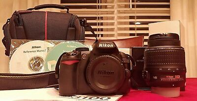 Nikon D3100 14.2MP Digital SLR Camera Kit w/ AF-S DX ED VR G 18-55mm and case