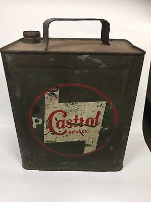 Castrol waterslide 2 gallon running board tin, dated 1943