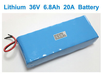 36V 37V 42V 10S 20A 6.8Ah Li-ion 18650 eBike Rechargeable Battery built-in BMS