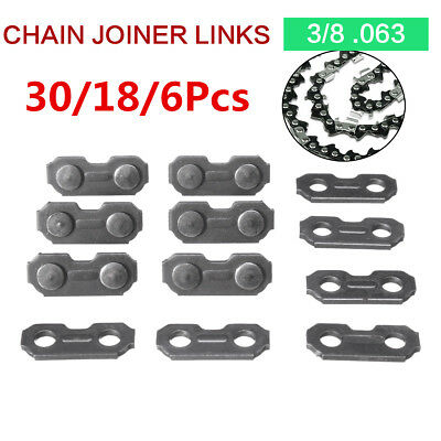 30/24/6pcs 3/8 .063 Steel Chainsaw Chain Joiner Link  for JOINING Chains 17.5mm