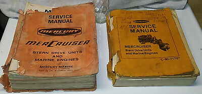 Lot of 2 Vintage 50s / 60s / 70s MERCURY Mercruiser Service Manuals OUTBOARD