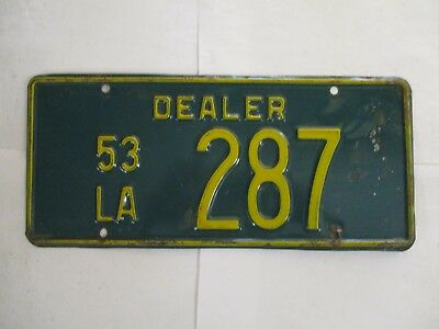NICE 1953 Louisiana DEALER  License Plate Tag