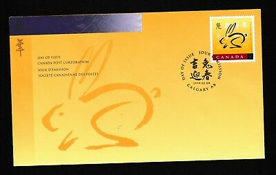 """#232=Canada 1999 1st day cover Chinese New Year  """"Year of Rabbit"""""""