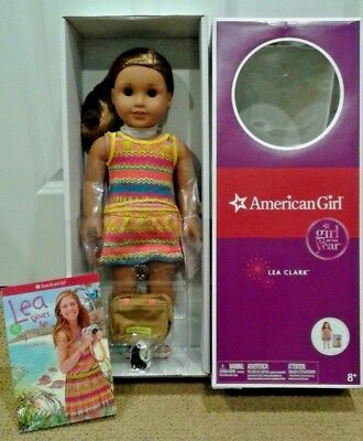 American Girl Lea Clark Doll New Book Messenger Bag Compass Necklace ~ BRAND NEW