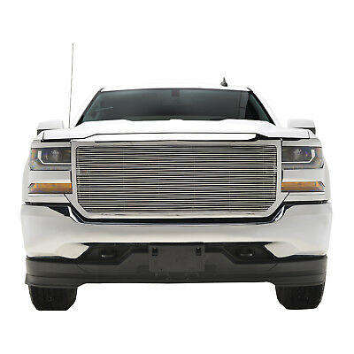 2016 2017 2018 Chevy Silverado 1500 Grille  Aluminum Chrome Front Upper W/Shell