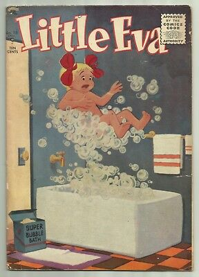 Little Eva #18 1955 St. John New Cover Style Inappropriate Subject Matter