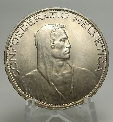 1925 B Switzerland - 5 Francs  - Silver Coin - Uncirculated - BU