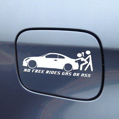 No Free Rides Gas Or *** Funny Sticker Waterproof Exterior Decal For Car Body