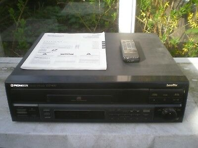 PIONEER LaserDisc Player PAL CLD-800 + Remote + Manual + Warranty