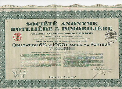 Societe Anonyme Hoteliere Et Immobiliere