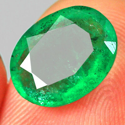 2.1Ct 100% Natural Awesome Deep Green Zambia Emerald Cut Collection MQM51