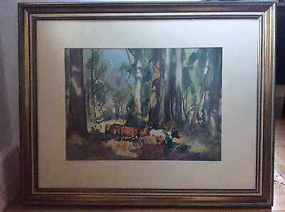 John.S.Loxton water colour RUSSELL STREET WARRIGAL