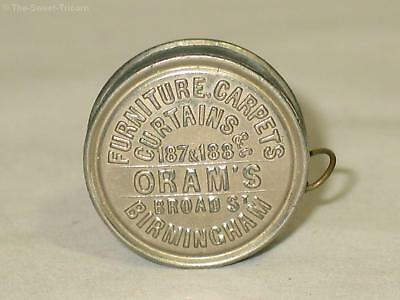 Circa 1890s Advertising Sewing Tape Measure, Oram Carpets, Birmingham England
