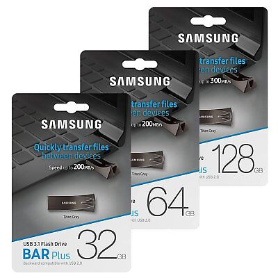 Samsung 32/64/128 GB USB 3.0 3.1 BarPlus Flash Drive Stick Speicherstick 300MB/s