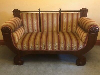 Beidermeier Antique Sofa. Double Ended Couch. Stunning Piece. Collectors Item