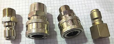 Pressure Washer 3/8 Quick Connect 4040Psi  Fittings. Made In Italy Various Fem/m