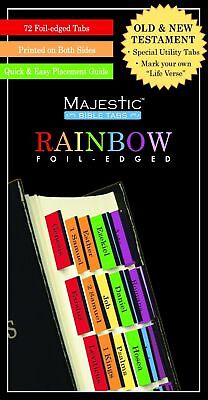 Majestic Rainbow Bible Tabs Book Supplement Religious Products & Supplies