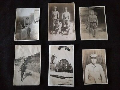 6 Original Photos  WW2 Japanese picture of the army soldier.