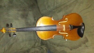 Beautiful Antique Old Violin 4/4 With Case, and Two Vintage Bows