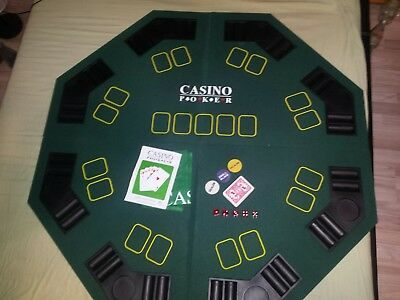 Pokertischauflage Poker Casino + Pokerkoffer + Kartenmixer Poker Casino + Tasche