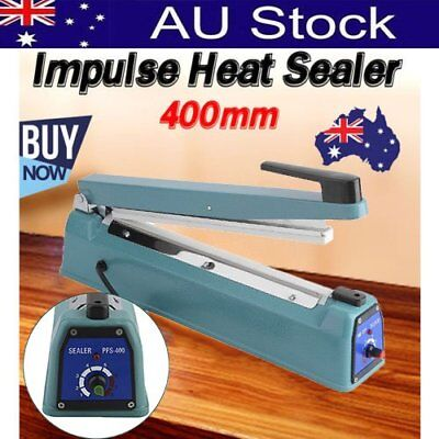 400mm Impulse Heat Sealer Hand SAA Machine Poly Bag Sealing Electric EY