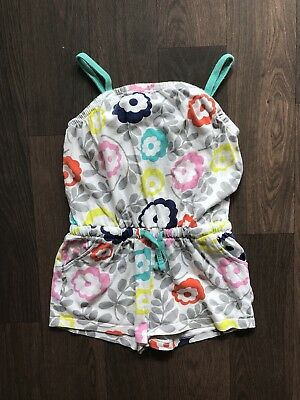 Girls Green Multi Floral Summer Playsuit 2-3 Years Mini Boden