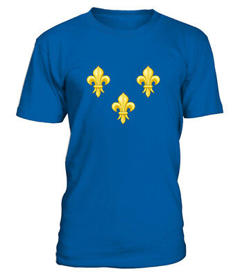 T SHIRT armoiries françaises france coat of arms french monarchy flag royaliste