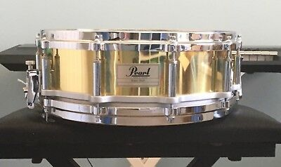 "Pearl Brass Shell Free Floating Snare 14""x5"""