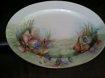 Signed Bavarian Seafood Platter - Hand Painted