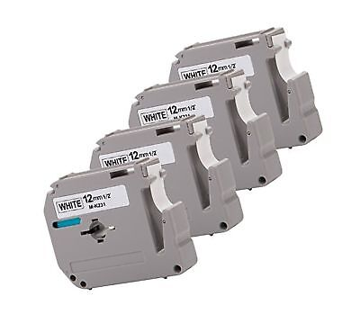 """4PK Onirii Compatible Brother P-touch M231 MK231 M-k231 Label Tape (0.47"""")12m..."""