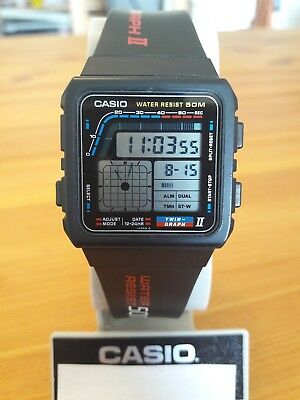 Rare Casio Vintage AE-22W Twin-Graph Watch