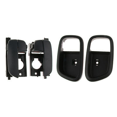 2x Rear Left and Right Interior Door Handles Set For 2007-11 Hyundai Accent
