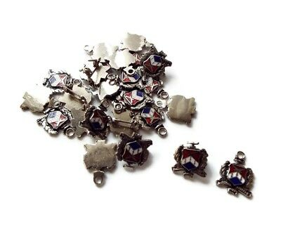 Lot of 24 National War College Vintage Emblem Pins/Charms - silver toned metal