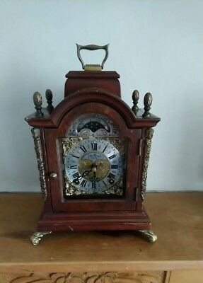Moon phase Bracket Clock  Mantel Clock  Wuba