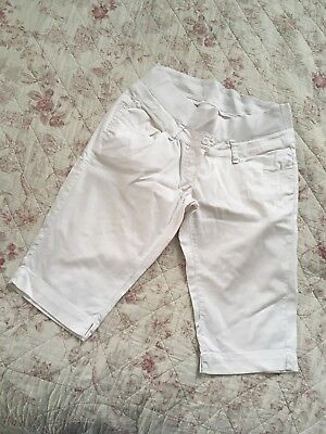 White Maternity Shorts Small