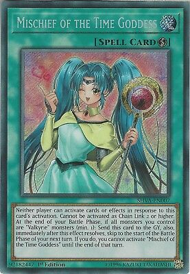 Yu-Gi-Oh: MISCHIEF OF THE TIME GODDESS - SHVA-EN007 - Secret Rare 1st Edition