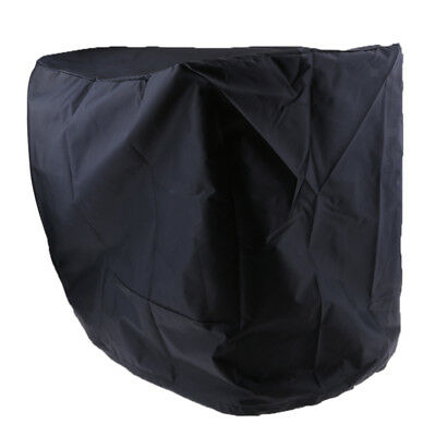 Black Waterproof Outboard Motor Boat Engine Protector Cover for 2-15 HP