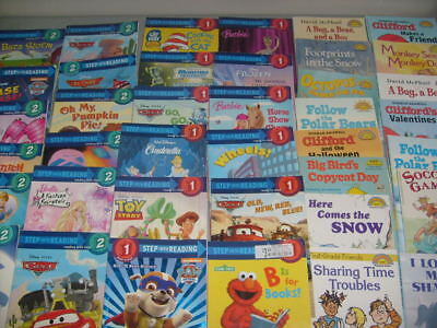 Lot 148 Children's Books Level 1 & 2 STEP INTO READING Hello Reader Early AR