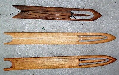(3) Vintage Wooden Net Weaving Tool