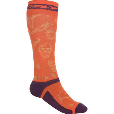 Fly Racing Socken MX Pro Orange/Purple - Dünn