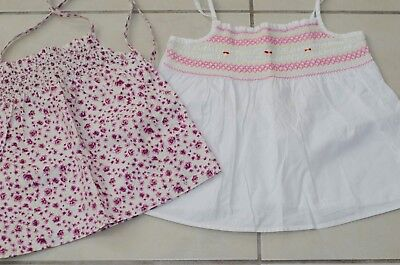 Girls summer cotton tops size 5-6 years