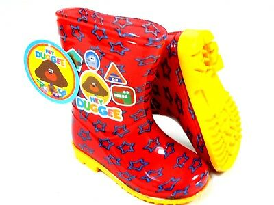 *Sale* Boys New Official Hey Duggee Red Wellies Welly Wellington Rain Boots 5-10