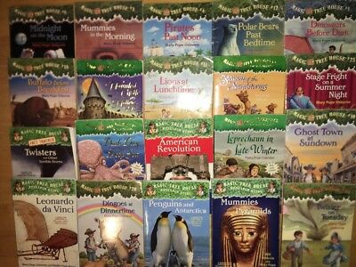 20 Magic Tree House Book Lot Chapter Books Mary Pope Osborne High #s &Rsh Guides