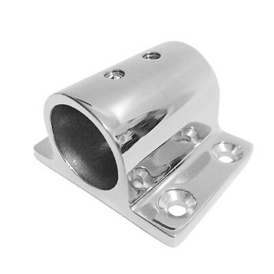 """Stainless Steel Boat Hand Rail Fitting 7/8"""" 22mm Rectangle Base Hardware"""