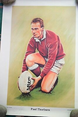 signed print paul thorburn rugby