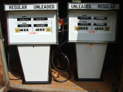 Tokheim Gas Pumps  -  One Pair  -  952 AT  -  RC - 2 - TWIN - GP - PR  - Vintage