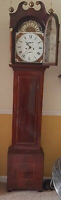Antique Flame  Mahogany 8 Day Longcase Grandfather Clock by J Hormer, Tonbridge